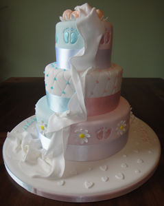 Vhcakes Christening Cake For Twins